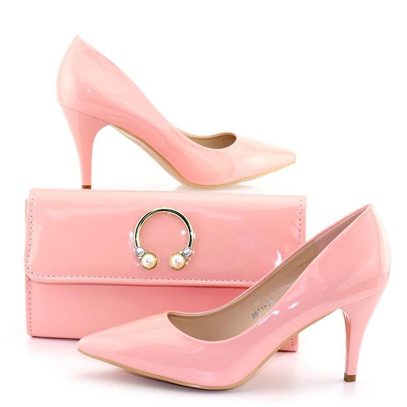 3 Y Rosa Bolso Sb8299 Boda Juego Moda Zapatos Bolsa Dama De Hermosa A Fiesta Para EwT6q