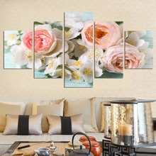 Unframed 5 pcs Canvas Painting Posters  Flower Modern Decoracion Wall Pictures For Living Room Top rated Modular Picture FA235 top posters холст top posters 50х75х2см g 1044h