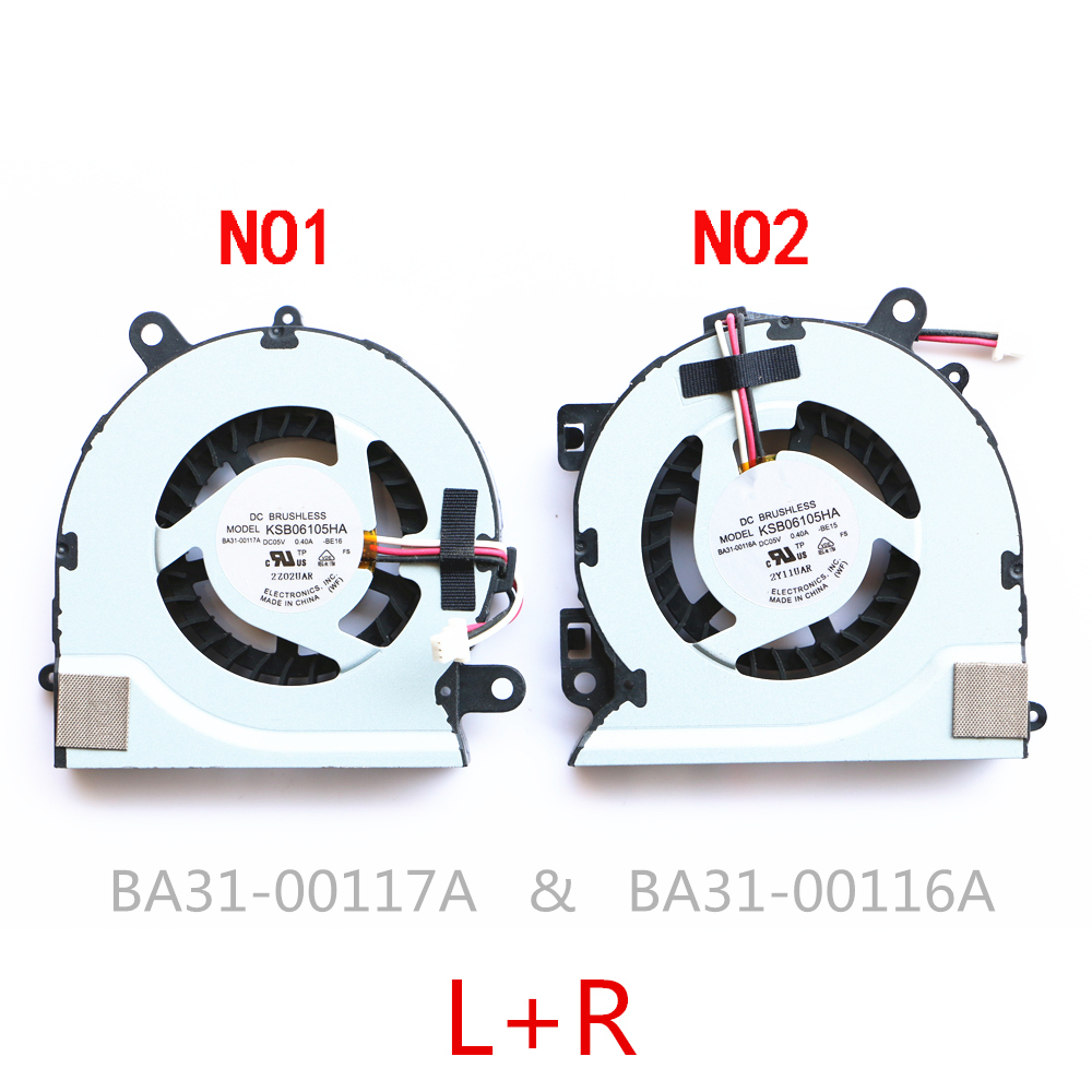 New laptop cpu Cooling Fan for Samsung 700Z NP700Z7C S03US NP770Z7E 700Z7C 700Z7B KSB0705HA BK2V BK2W BA31 00127A-in Fans & Cooling from Computer & Office