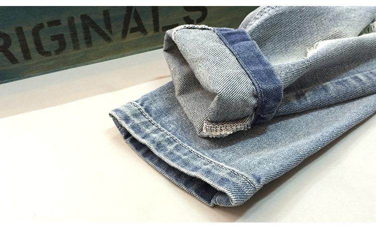 Spodnie MXTOPPY dla dzieci z pękniętymi otworami dla chłopców - Ubrania dziecięce - Zdjęcie 4
