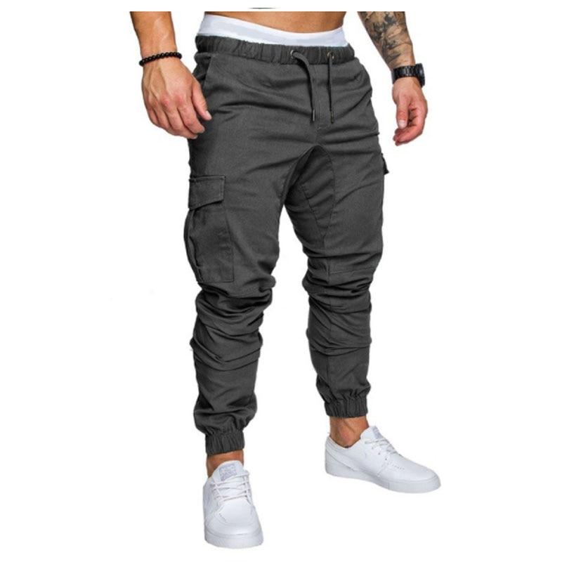 Marca hombres pantalones Hip Hop Harem Pantalones 2018 hombres pantalones Mens Joggers sólido Multi-Bolsillo diez colores Pantalones sweatpants M-4XL