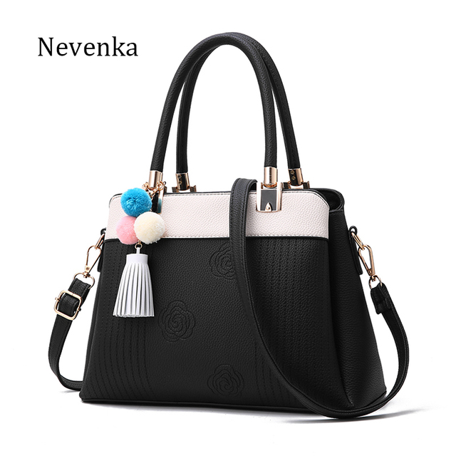 Nevenka Women Bag Leather Quality Handbag Casual Tote Lady Shoulder Bags Female Brand Tassel Messenger Bags Original Design Sac