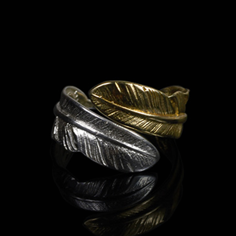 100 Pure 925 Sterling Silver Jewelry Feather Rings Opening Wide Version Men Signet Ring For Women Special Christmas Gift 1079 in Rings from Jewelry Accessories