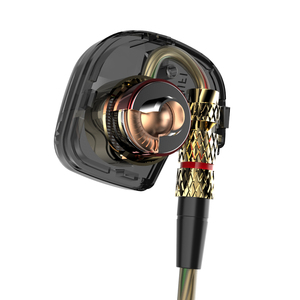 Image 4 - KZ ATE 1DD الديناميكي سائق HiFi سماعات رياضة إلغاء الضوضاء في الأذن رصد سماعات للألعاب مع ميكروفون شفاف