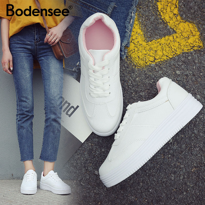 BODENSEE Women Canvas Shoes Trainers Girls Fashion Skate Shoes Casual Shoes Basket Femme Tenis Feminino Women Vulcanize Shoes
