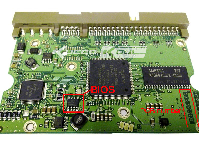 Hard Drive Parts PCB Logic Board Printed Circuit Board 100431065 For Seagate 3.5 IDE/PATA Hdd Data Recovery Hard Drive Repair