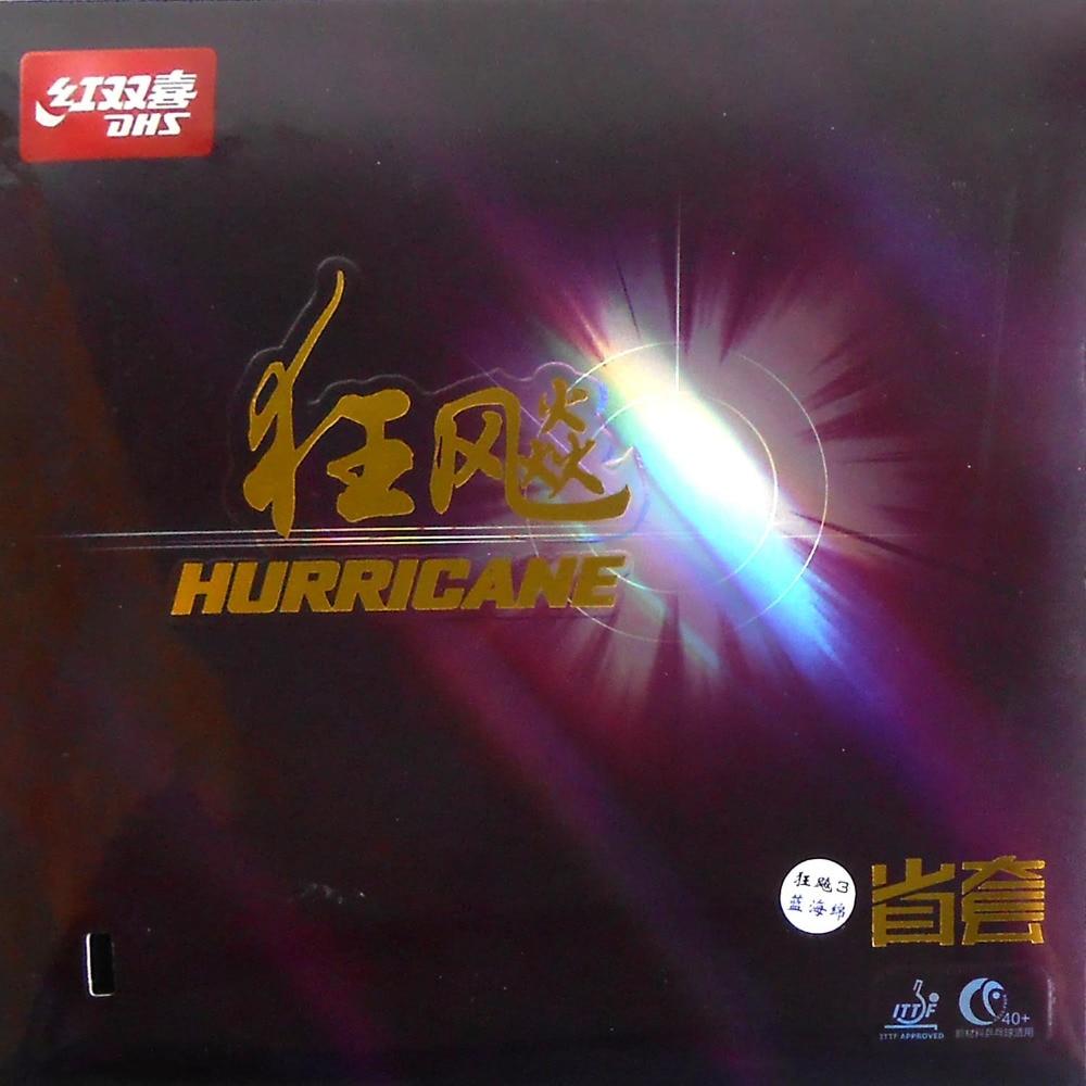 DHS Hurricane3 (Hurricane-3) Provincial Professional Black Pips-In Table Tennis / PingPong Rubber with Blue Sponge(2.15mm-2.2mm) стойка для акустики waterfall serio hurricane black