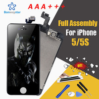 Full Assembly AAA LCD Screen For Apple IPhone 5 5S Display Digitizer LCD Kits 4 Phone