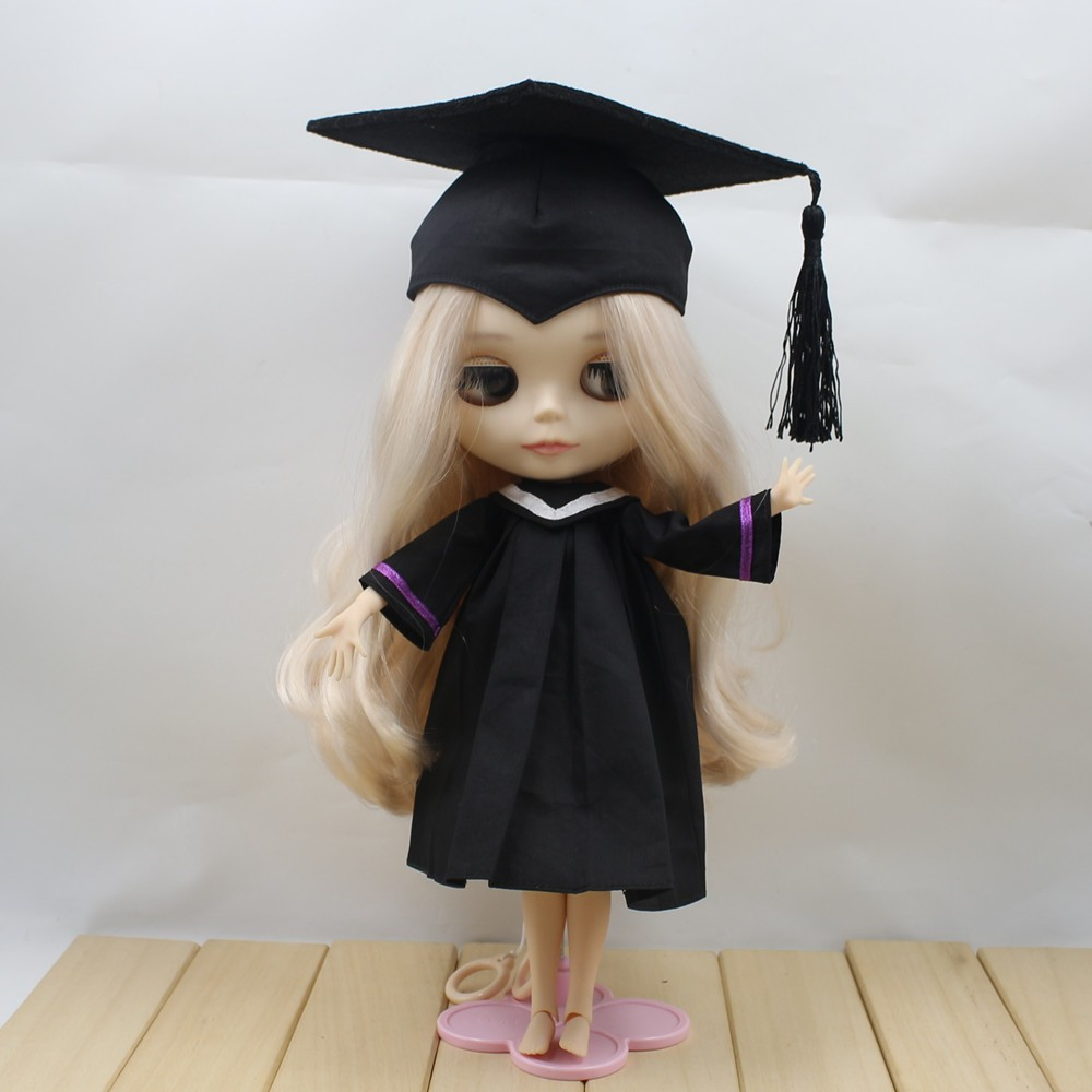 Neo Blythe Doll Graduation Dress With Trencher Cap 3