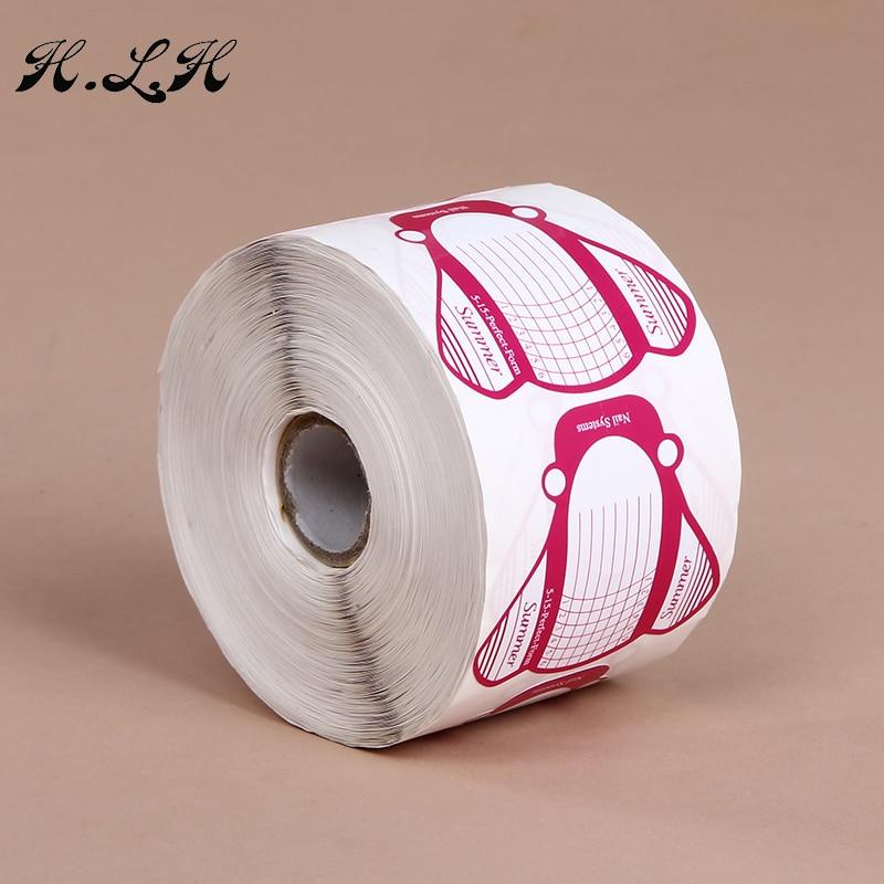 H.L.H 500 stks / 1 Roll Nail-Growing Vorm Make Professionele Nail - Nagel kunst - Foto 4