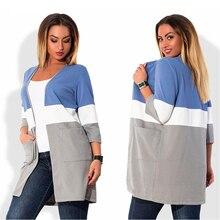 Plus Size Autumn Winter New printing knit cardigan jacket Loose fashion Shawl Collar Pocket Casual lady overcoat 4XL 5XL 6XL
