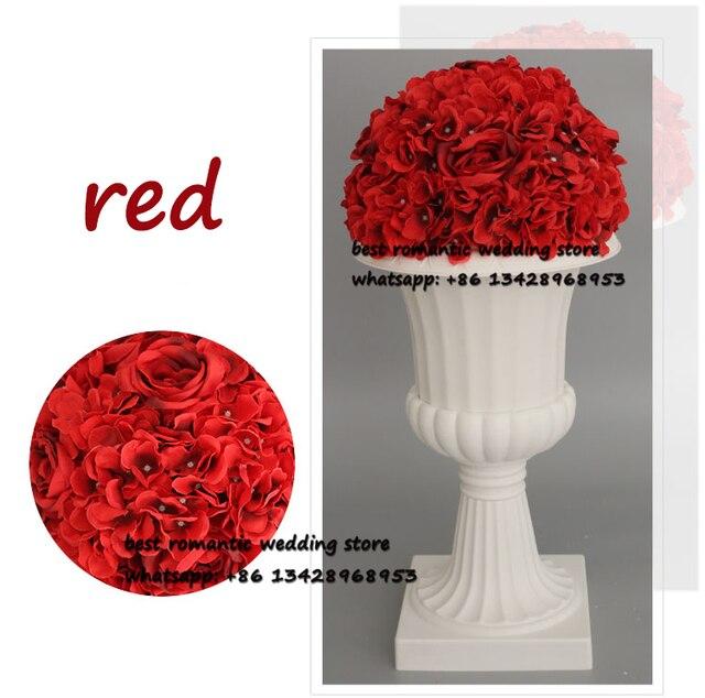 10 Stucke Rot Kussen Ball Hochzeit Strasse Blei Kunstliche Grosse