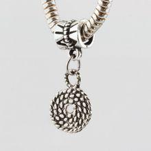 50pcs Tibetan Silver Cute Dangle European Beads Fit Charms Bracelet (2847)
