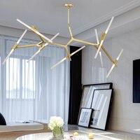 Art Decor Tree Branch Chandelier for Living room Bedroom Loft spider chandelier Black Gold Color sputnik chandelier lighting