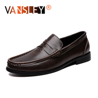 2019 New Men Leather Loafers Fashion Party Dress shoes business leisure man shoes Breathable Comfortable Men's Boat Footwear