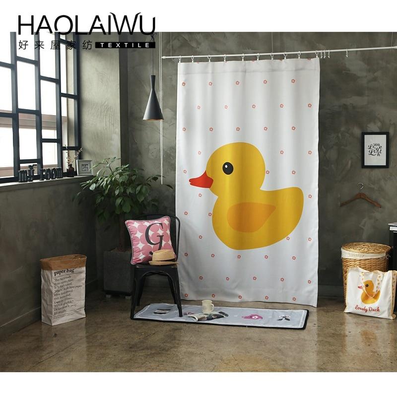Hot sales 3d print kind kleine gele eend gedrukt verduisteringsgordijn voor woonkamer slaapkamer cortinas para living gordijnen kamer - 4