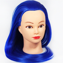 Female Mannequin Head Hairdresser With Yaki Synthetic Hair Hairdressing Mannequins For Salon Training Maikin Mode