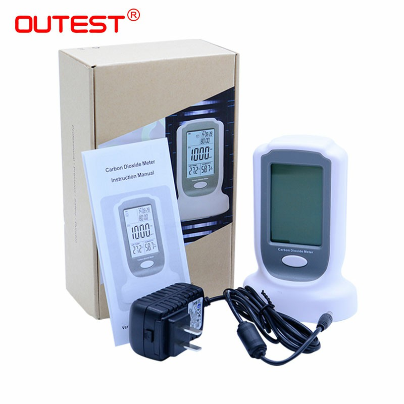 GM8802 Gas detector Handheld CO2monitor detector 3 in1 CO2 meter Carbon Dioxide Detector Temperature Humidity test gm8802 handheld portable carbon dioxide detector co2 meter led backlight display with sound light alarm setting