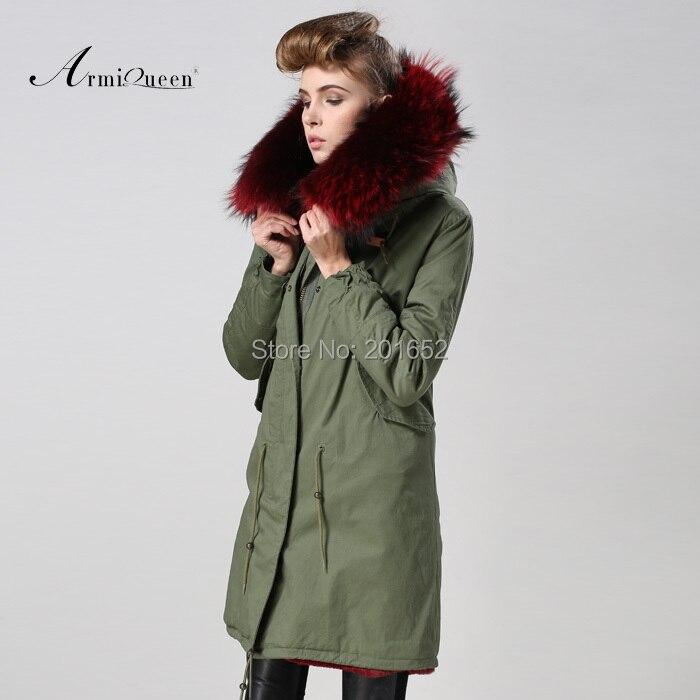 909fa41898e US $357.0 49% OFF|Women's and Men's Luxury Faux Fur Long Winter Trench Coat  Jacket fur Hooded Parka Overcoat Fur trimmed canvas long parka-in Faux Fur  ...