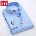 Camisa de linho Marca Fashion Business Casual Formal Slim Fit Social Não-Ferro Camisas de Vestido de Algodão Respirável Masculino Branco/preto X013
