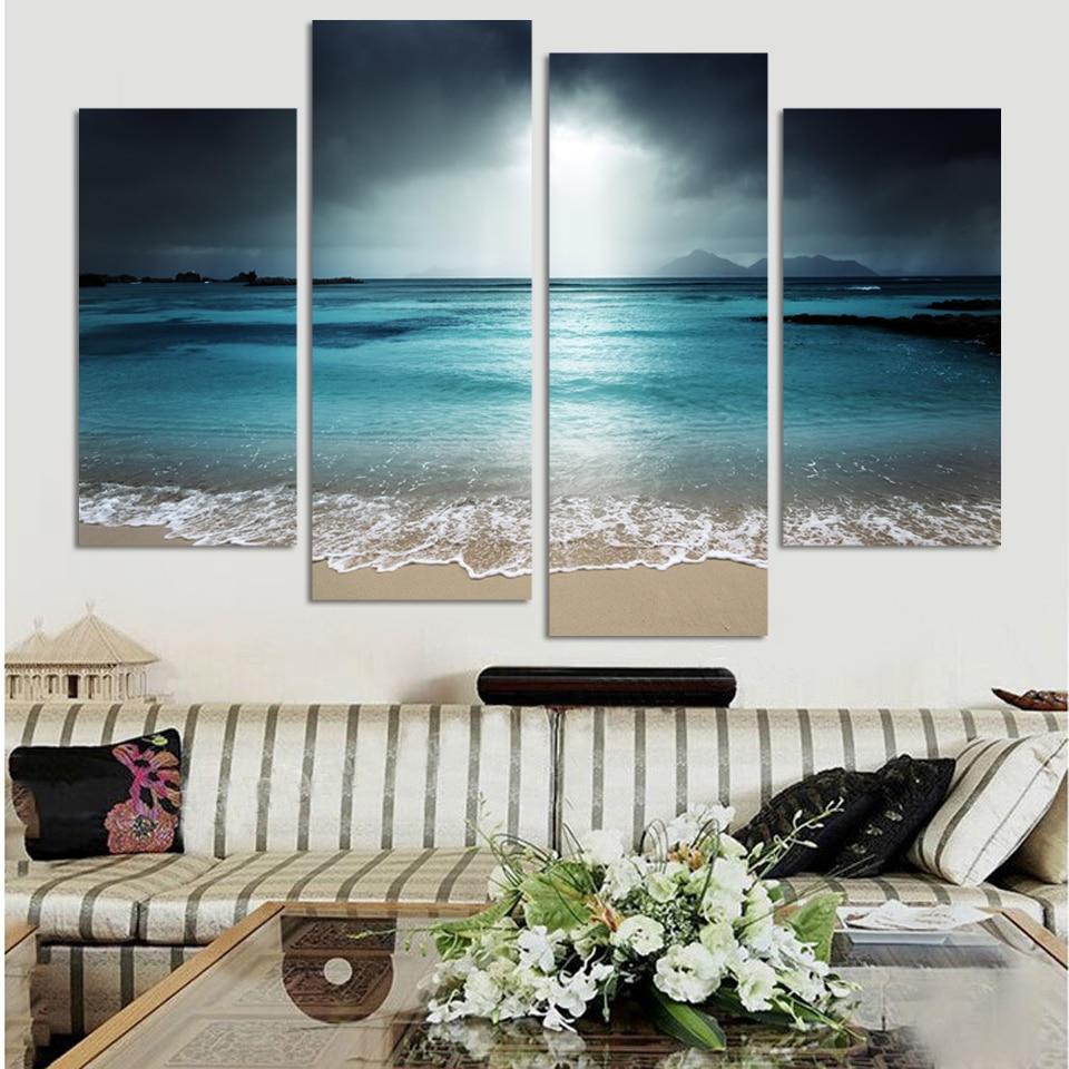 ᐂ4 panel moderno arte de la pared decoración del hogar sin marco ...