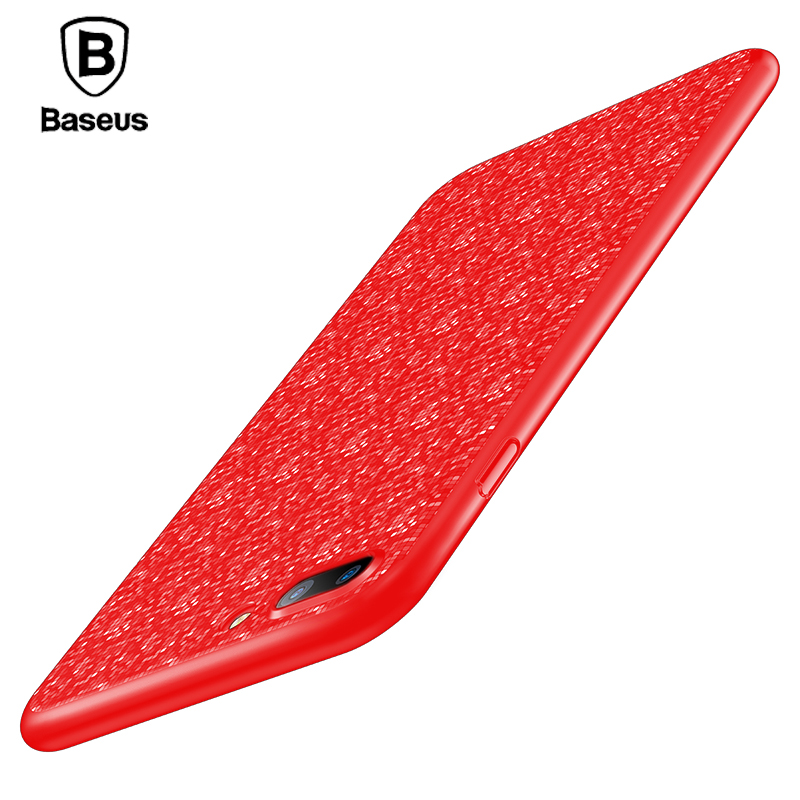 font b Baseus b font Plaid Case For Apple iPhone 7 Ultra Slim Hard PC