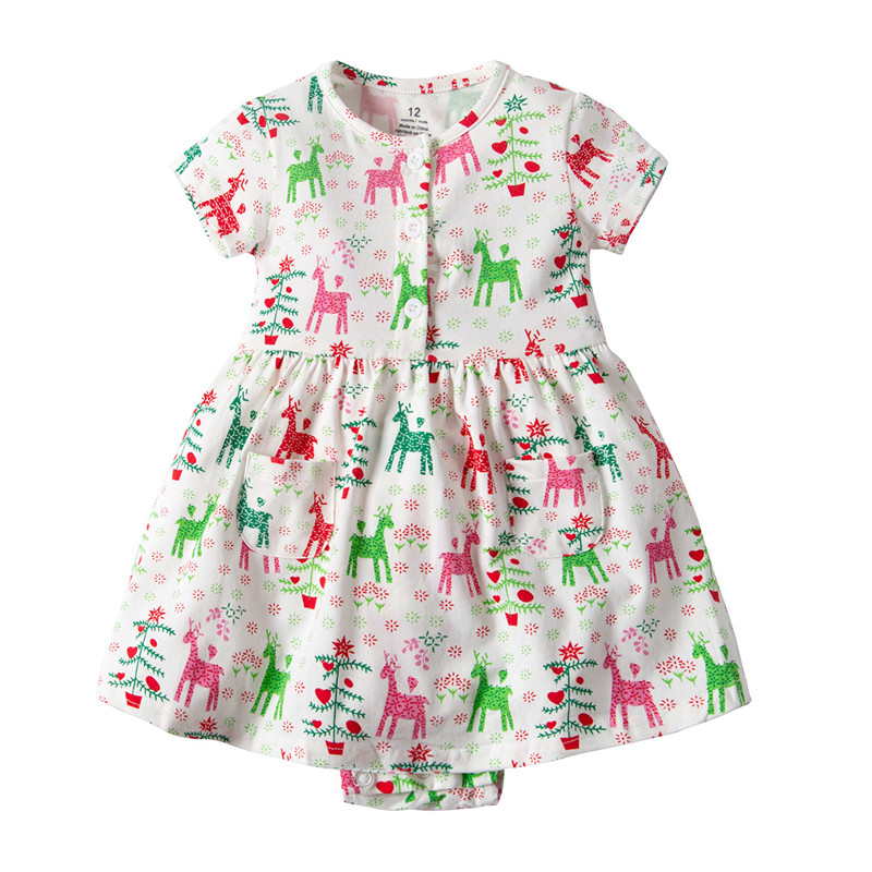 Newborn Costume Girls Dresses Ruffle Flower Romper Dress Baby Girls Princess Kids Party Dresses Cotton Cute Animals Clothes in Dresses from Mother Kids