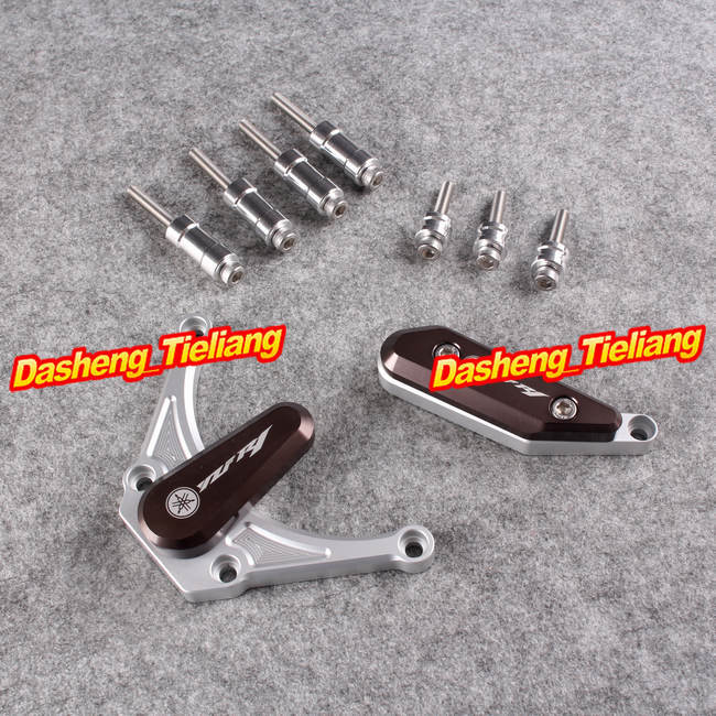 For YAMAHA YZF R1 2009 2010 2011 2012 Motorcycle Engine Cover Frame Slider Left Right Side, Aluminum, Coffee Color фоторамка варенье 10 x 15 см 25810