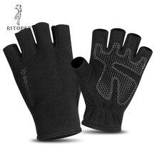Флисовые перчатки для мужчин и женщин, зимние Нескользящие перчатки без пальцев для альпинизма, Спортивная перчатка для письма