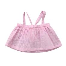 Для новорожденных летняя одежда для девочек футболка без рукавов Майки хлопковые рубашки Одежда для маленьких девочек 0-24 м