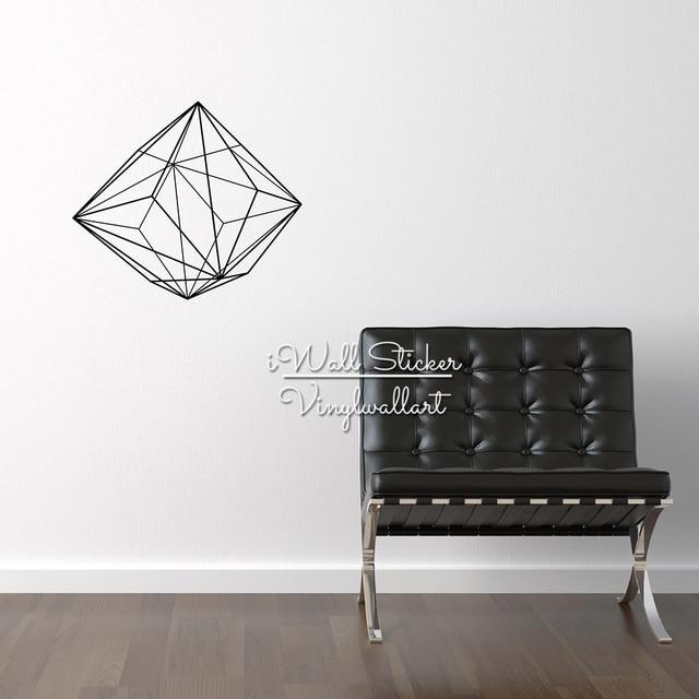 Geometric Wall Sticker Modern Geometric Wall Decals DIY Easy Wall Art  Removable Modern Wall Decors Cut