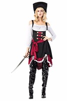 Pirates of the Caribbean Cosplay Pirate Costume Women Halloween Carnival Cosplay Costume Fancy Dress for Adult Female