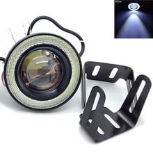 30W Angel Eyes Led Headlight Lens Projector Daytime Running Lamp Car COB Fog Light Motocycle