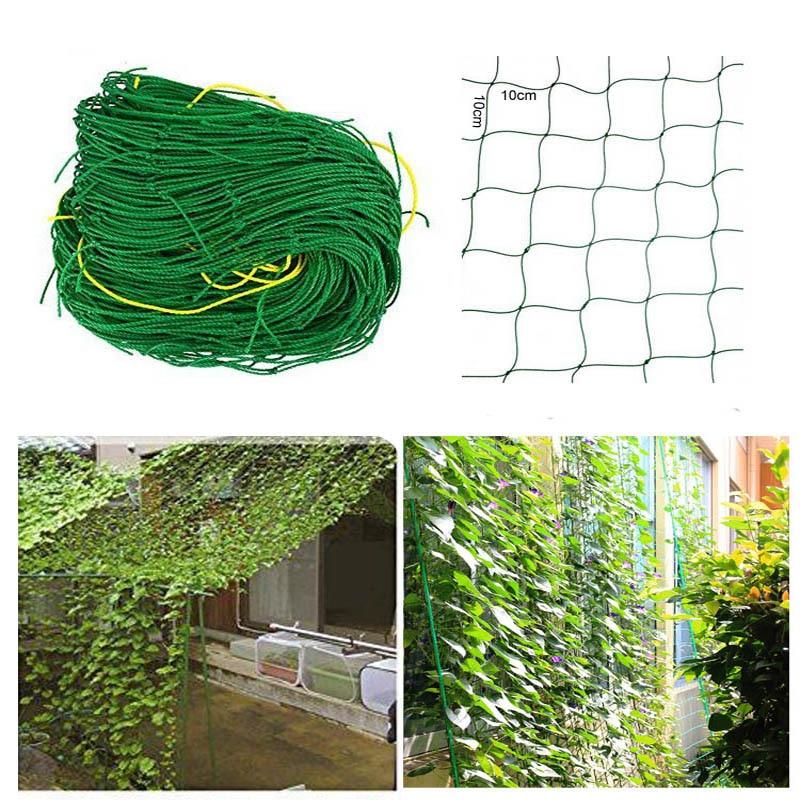 2PCS/lot 5m*3.6m Large Flower Plant Climbing Frame Garden Fence Net Vegetable Anti-bird Net Vegetable Plant Trellis Netting ...