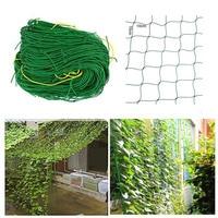 2PCS/lot 5m*3.6m Large Flower Plant Climbing Frame Garden Fence Net Vegetable Anti bird Net Vegetable Plant Trellis Netting