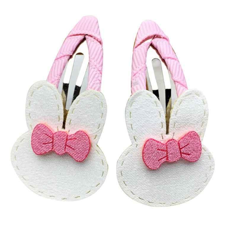 1 пара заколки для волос для маленьких детей цветной мультяшный Кролик цветок сердце BB заколки для волос капли воды сладкий шарф заколки