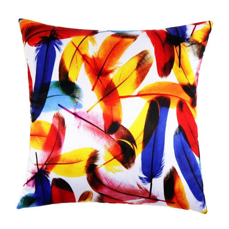 1 шт. многоцветный птичье перо подушка Футляр 45 см квадратный красочные pilloslip подушки Чехол Доставка Распродажа
