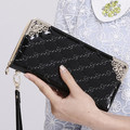 2015 Hot Sale Fashion Women Wallets  Long Purse Women Standard Wallets With Card Holder Coin Pocket  Solid color