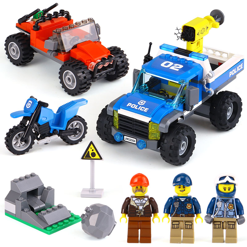 Lepin 02084 New City Series The Dirt Road Pursuit Set LegoINGly 60172 Building Blocks Bricks Funny Toys Model Gifts For Children a toy a dream lepin 02043 718pcs building blocks bricks new genuine city series airport terminal toys for children gifts