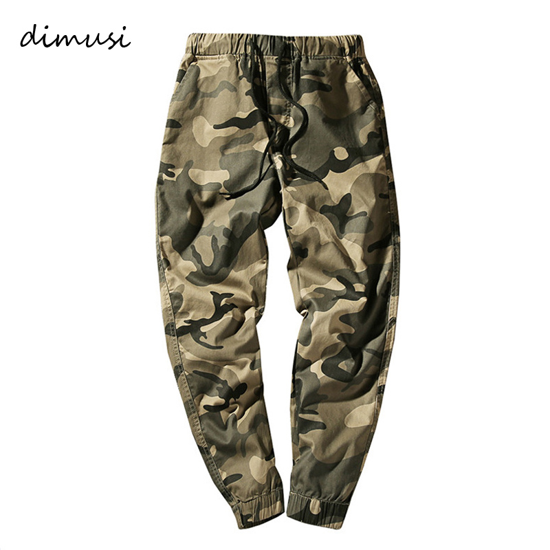 DIMUSI Mens Joggers Casual Pants Fitness Men Camouflage Sportswear Tracksuit Sweatpants Cotton Elastic Comfortable Gyms Joggers