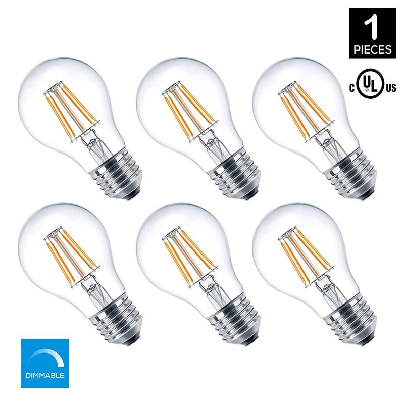 A19 Led Filament Bulb Nostalgic Edison Style 4w To Replace: MRDENG Led Light Bulbs Retro Edison Filament Bulb 120V E26