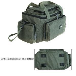 Image 4 - Duża pojemność wielofunkcyjna torba wędkarska tkanina nylonowa na ramię Messenger zbiornik wędkarski Reel Lure torba na aparat