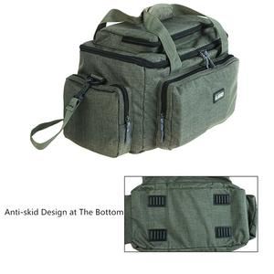 Image 4 - Large Capacity Multifunctional Fishing Bag Nylon Cloth Shoulder Messenger Reservoir Fishing Tackle Reel Lure Camera Storage Bag