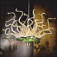 Домашний декор ручной работы выдувные стеклянные люстры DIY стеклянные тарелки подвесной светодиодный светильник