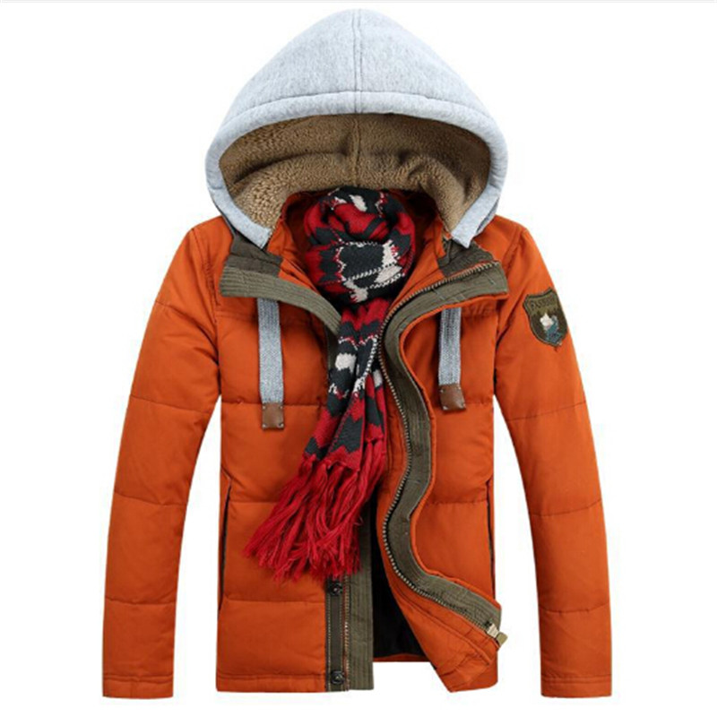 2016 Men's Down jacket With Hood 90% Duck Down Winter Overcoat Plus Size Outwear Winter Coat Free Shipping Wholesale And Retail