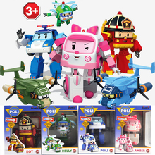 1pcs/Set Robocar Poli Korea Kids Toys Anime Action Figures Toy Robot Car Cali Transport Vehicle For Children