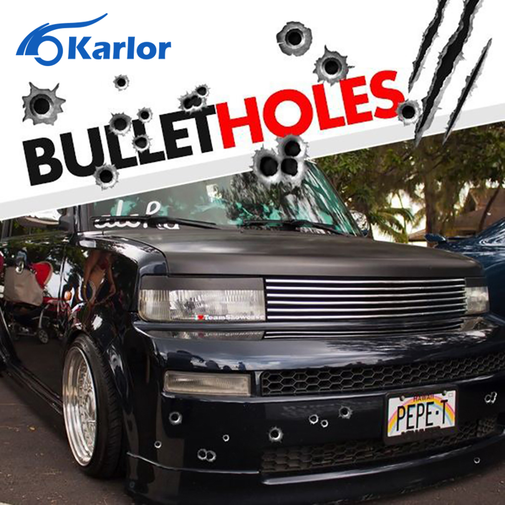 Car sticker design philippines - 23 29cm Diy Funny 1pcs Car Stickers 3d Bullet Hole Car Styling Accessories Motorcycle Scratch