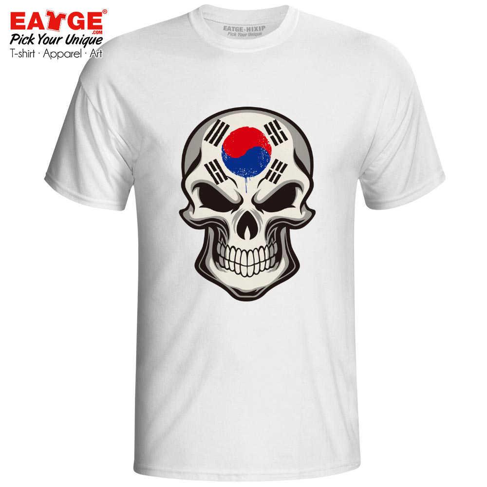 Mysterious Smile From Korea Skull T Shirt Evil Flag Cartoon Artwork Funny Skate Design T-shirt Casual Brand Anime Unisex Tee
