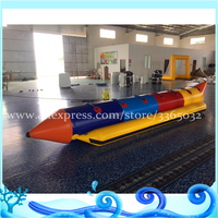 8 person customized colorful inflatable PVC banana boat for sales with 0.9mm PVC tarpaulin best quality