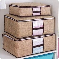 Não-tecido família economizar espaço organizador cama sob armário caixa de armazenamento roupas divisor organizador colcha saco titular organizador 64505